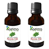 KAZIMA Neem Cold Pressed Oil (Pack of 2) with Dropper 15ml Pure Natural