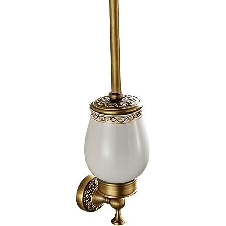 gold per WC /è in lega e ceramica lusso lucido oro Finished montaggio a parete Toilettenb/ürstenhalter Case Vento europeo porta scopino wc con tazza e spazzola