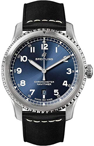 Breitling Navitimer 8 Automatic 41 Blue Dial Black Leather Strap Men's Watch (REF. A17314101C1X2)