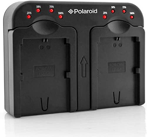 """high quality Polaroid Double (Dual) Battery Charger sale """" Charge 2 Batteries At The Same Time"""" For The Nikon EN-EL14 (P7000, P7100, P7700, P7800, D3100, D3200, D5100, D5200), EN-EL15 (D600, D7000, D7100, D800), EN-EL20 (A, Nikon 1 J1, J2. J3, S1) outlet sale Batteries online"""