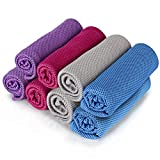 8Packs Cooling Towel (40'x 12'), Ice Towel, Microfiber Towel, Soft Breathable Chilly Towel Stay Cool for Yoga, Sport, Gym, Workout, Camping, Fitness, Running, Workout & More Activities