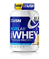 Premium whey isolate protein powder: USN Blue Lab Whey lean muscle protein powder contains premium whey protein Isolate, whey hydrolysate and whey concentrate—giving you 25g of protein per serving Packed with BCAAs: Blue Lab chocolate whey protein po...