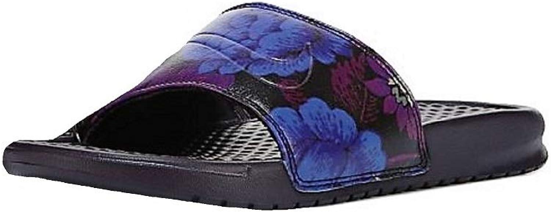 Nike WMNS Benassi JDI Print Sandals, Burgundy Ash Burgundy Ash
