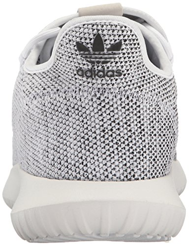adidas Originals Men's Tubular Shadow Running Shoe, White/White/Black, 11 M US