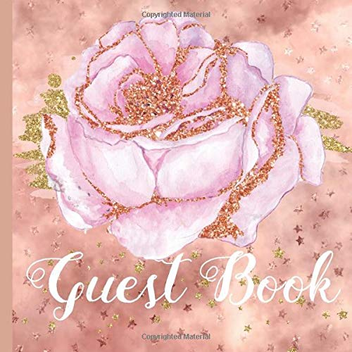 Guest Book: Rose Gold Bridal Shower Guest Book Includes Gift Tracker a