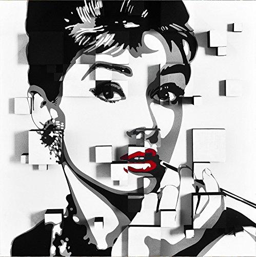 Audrey Hepburn Fotografie Print Plexiglas Schilderij Doek Grootte Grote 60cm x 60cm Klaar om op te hangen