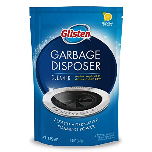 Glisten Disposer Care Foaming Drain/Pipe Cleaner, 4 Uses, White, Blue, 4 Ounce