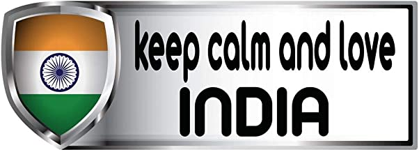 Tag Xpress - Keep Calm and Love India Country Flag Sticker - Bumber Sticker Decal - 3