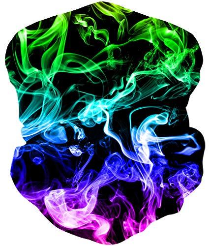 Loveternal Rauch Multifunktionstuch Smoke Kopftuch Nahtloses Halstuch Sport-Halstuch,Schlauchtuch,Schal,Bikertuch,Unisex,Schnelltrocknend Winddicht Face Scarf für Staub, im Freien, Sport,Festivals