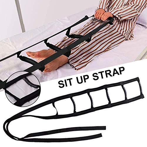 Bed Sit Up Strap, Sit Up Bed Ladder, Lightweight Sit Up Handle Rope Ladder, Rope Ladder with Soft Rubber Handle Strap for Elderly Senior Injury Recovery Patient Handicap
