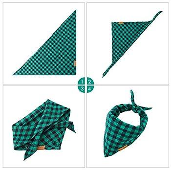 Bandana pour Chien, Dog Bandana Plaid Triangle Lavable Écharpe pour Chien Bandana pour Chiots pour Petit Moyen Grand Animal