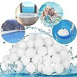 MEISHANG Filter Balls,Bolas Filtrantes,Bolas de Filtro Depuradora Piscina,Bolas del Filtro de Arena,Bola de Filtro de Piscina,Bolas de Filtracion,Filtrar Impurezas (700g)