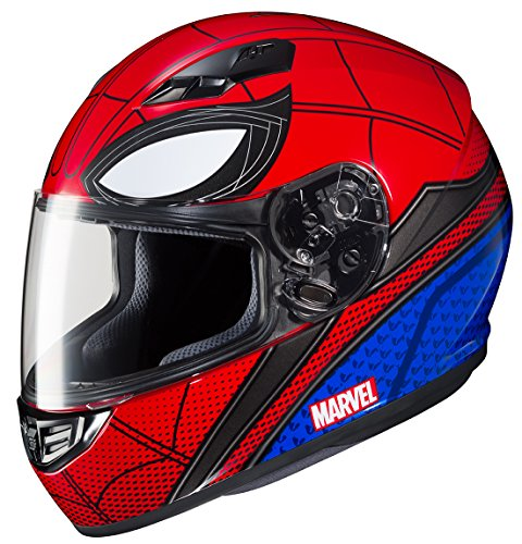 marvel motorcycle helmets HJC Helmets Full-face-helmet-style Marvel CS-R3 Spiderman Homecoming