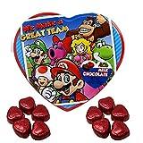 Super Mario Chocolate Heart Filled Tin, Halloween Candy Treat, 3.6 oz