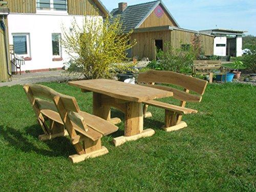 KJR Holzmanufaktur Rustikale Gartenmöbel, Sitzgruppe, Sitzgarnitur, Eiche
