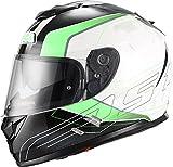 NZI Symbio Duo Graphics Casco De Moto(Aresone Blanco Verde,P
