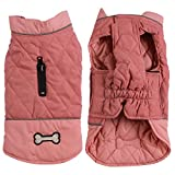 Vecomfy Reversible Dog Coats for Small Dogs Waterproof Warm Cotton Puppy Jacket for Cold Winter,Pink S