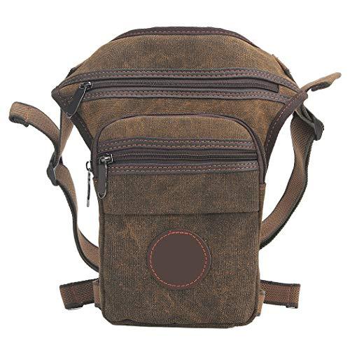 Fansport Bolsa de Lona Bolso de Pierna Vintage Ajustable Paquete de Pierna Al Aire Libre para Viajar