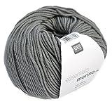 Merinowolle Babywolle Rico Merino dk Fb. 24 grau zum Stricken & Häkeln