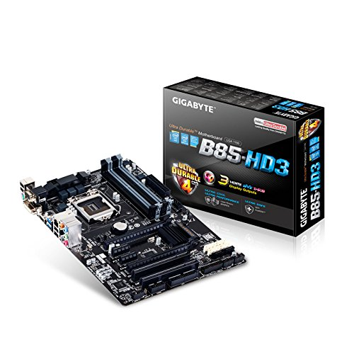 Gigabyte GA-B85-HD3 - Placa Base (Socket Intel LGA1150, 4 x DDR3 DIMM hasta 32 GB, Multi-GPU, 6 x SATA, Audio 7.1)