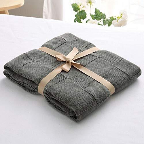 FUFU Mantas y mantitas Manta de Tiro de Punto de Cable 100% algodón | 71'x79 |Supersoft cálido y Acogedor |Manta de Tiro Decorativo para sofá, sofá y decoración del hogar en 13 tamaños para Todas la
