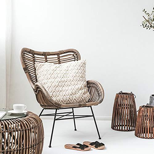 Haus Dekoration Stühle for Wohnzimmer Retro-Stil handgefertigter Rattan-Liegestuhl