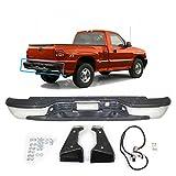 MBI AUTO - Steel Chrome, Rear Step Bumper Assembly for Stepside 1999-2004 Chevy Silverado & 1999-2005 GMC Sierra 1500, GM1103123