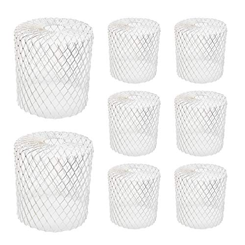 Kraftex 8pk Gutter Guards Leaf Filter Gutter Strainer & Downspout Guard - Better Than Roof Gutter Screen - Mesh Leaf Guards with Up to 4in Diameter - Gutter Drain Cover & Down Spout Rain Protector