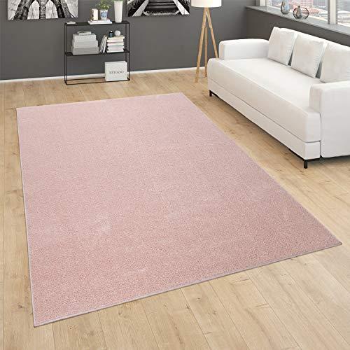 Alfombra Salón Lisa Pelo Corto Sencilla Moderna Color Rosa, tamaño:140x200 cm