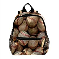 女性用トラベルバッグ用ミニバックパック財布シームレスな野球パターン 仕事、学校、屋外