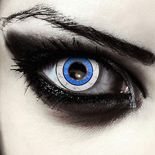Designlenses, Blau weiße farbige Kontaktlinsen für Halloween Kostüm Star Wars Cosplay Larp Farblinsen Model: Ahsoka
