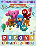 Pocoyo Scissor Skills: Crayola Creativity Coloring And Cutting Kids Activity Workbook Pocoyo (Gifted Adult Colouring Pages Fun)
