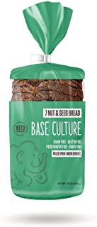Base Culture Keto Bread | Seven Nut & Seed, 100% Paleo, Gluten Free, Grain Free, Non-GMO, Dairy Free, Soy Free and Kosher ...