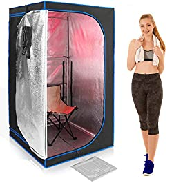 Serenelife Portable Full Size Infrared Home Spa| One Person Sauna...