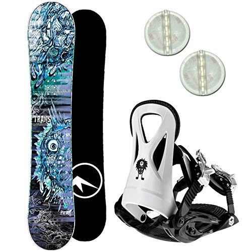 Trans Pirate Kinder Snowboard Set 2020~135 cm + JUNIOR BINDUNG GR. M + PAD