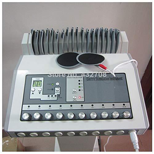 Elettrostimolatore Tens EMS Stimolatore muscolare Digital Meridian Massager Macchina di fisioterapia Dispositivo agopuntura terapeutica per Body Shaper dimagrante Cura petto Sollievo dal dolore,220V