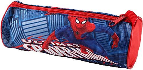 Portapenne SpiderMan Rosso e Blu, Astuccio Borsellino Scuola per Bambini Spider man