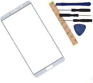 شاشة زجاجية أمامية متوافقة مع هواوي ميت 10 أبيض