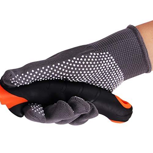 Preisvergleich Produktbild Jsmily Arbeitshandschuhe,  verschleißfeste Arbeitshandschuhe,  gummierte Haushaltsschutzhandschuhe,  Gartenschutzhandschuhe,  2 Paar