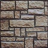 10 paneles de papel pintado autoadhesivo efecto 3D, moderno revestimiento de pared con aspecto de ladrillo o piedra, montaje rápido y fácil