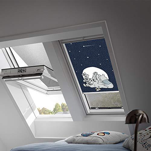 VELUX Original Verdunkelungsrollo für Dachfenster mit weißen Seitenschienen, C02, Winnies Freunde/DKL C02 4663SWL