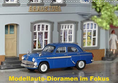 Modellauto-Dioramen im Fokus (Wandkalender 2021 DIN A3 quer)