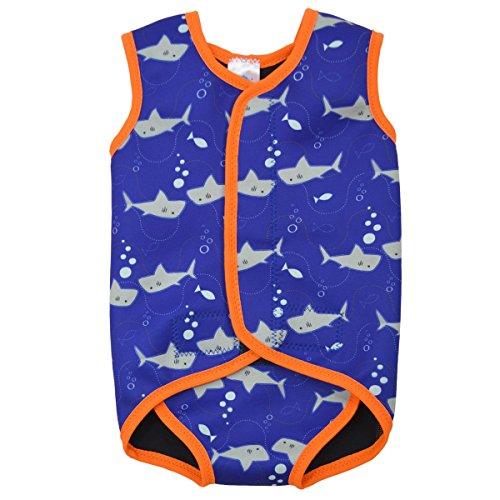 Splash About Baby Wrap Wetsuit Traje de Neopreno, Infantil, Naranja (Tiburones), 0-6...