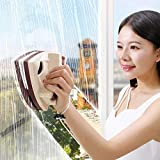 LZH FILTER Limpiacristales Magnético, Herramienta de Limpieza de Vidrio con Cuerda Anti-Caída para Ventanas de Gran Altura Doble Acristalamiento con un Espesor de 5 a 25 mm