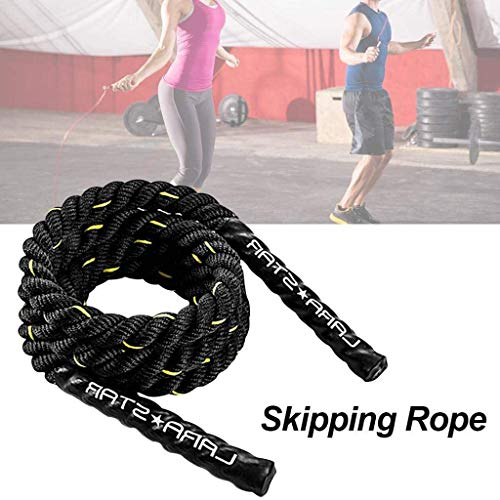TSTS 1inch Diameter, 30ft LengthBattle Exercise Training Rope with Protective Cover, itness Undulation Rope Exercise Cross Strength Training Circuits Workout,100% Poly Dacron Heavy Battle Rope