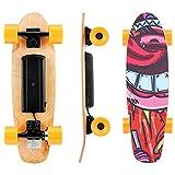 WOOKRAYS Elektrisches Skateboard mit Funkfernbedienung Elektro...