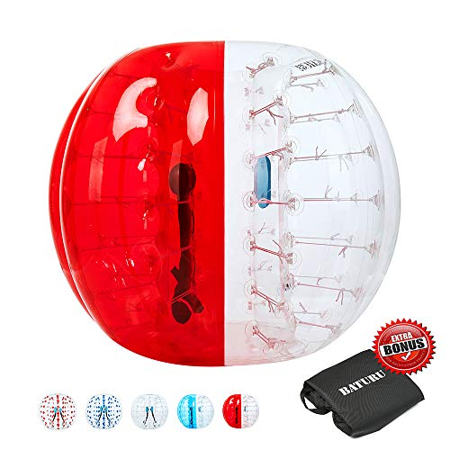 Bumper Balls, Bubble Soccer 5 ft, Inflatable Bubble Ball for Adults/Kids, Giant Human Hamster Ball W/Carry Bag