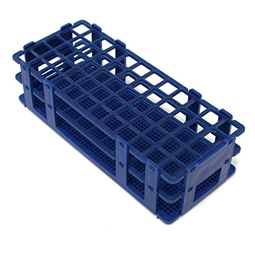 EsportsMJJ 3 lagen 60 gaten plastic test tube rek holder wit/blauw, blauw, 1