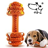 Jomilly Dog Chew Toys for Aggressive Chewers Indestructible Dog Toys Tough Natural Rubber Dumbbell Toy for Small Medium Large Dogs-7.5 in