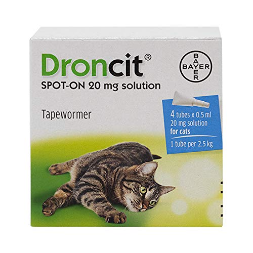 Droncit 0.5ml Tapeworm Cat Wormer, 4 pipettes